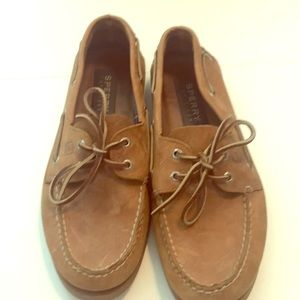 Sperry Topsider boat shoes men's 10.5 tan leather